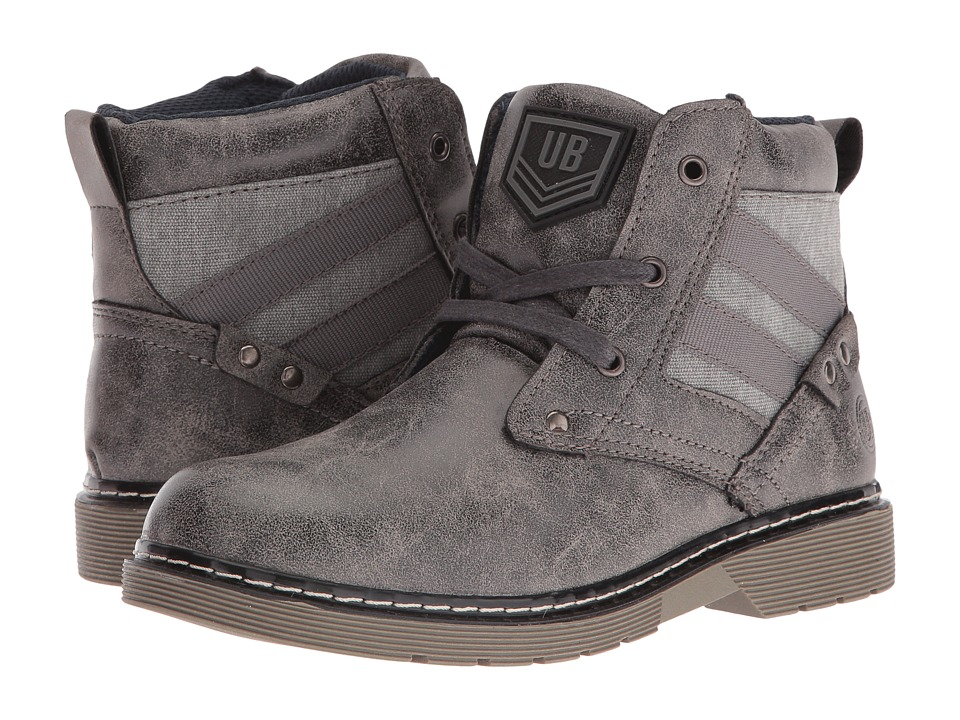 UNIONBAY Kids Steeler High Top Sneaker (Toddler/Little Kid/Big Kid) (Grey) Boy