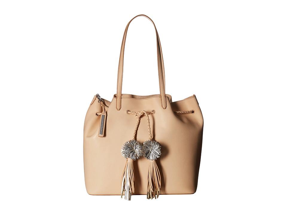 Loeffler Randall - Drawstring Tote (Natural/Silver) Tote Handbags