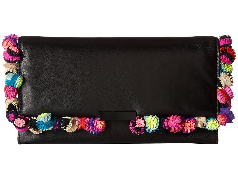 Loeffler Randall - Tab Clutch (Black/Multi) Clutch Handbags