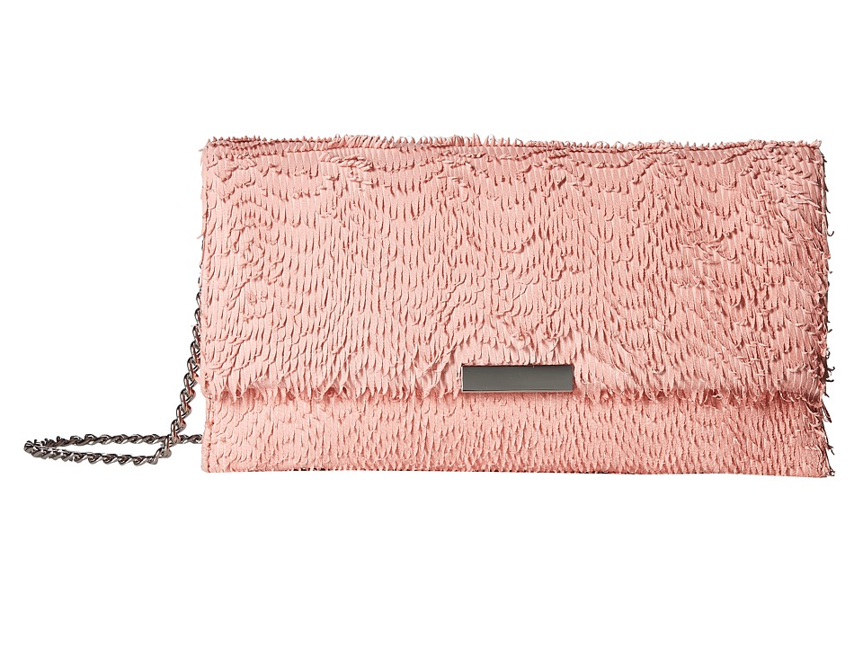 Loeffler Randall Tab Clutch (Melon) Clutch Handbags