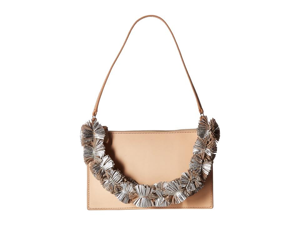Loeffler Randall - Zip Pouchette (Natural/Silver) Handbags