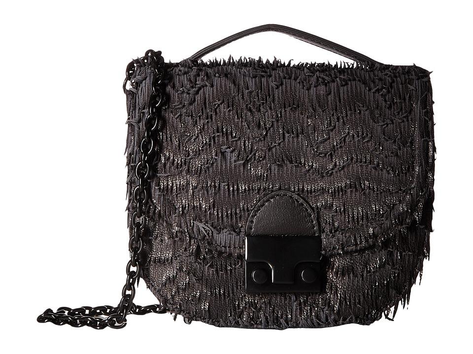 Loeffler Randall - Mini Saddle (Black/Black) Handbags
