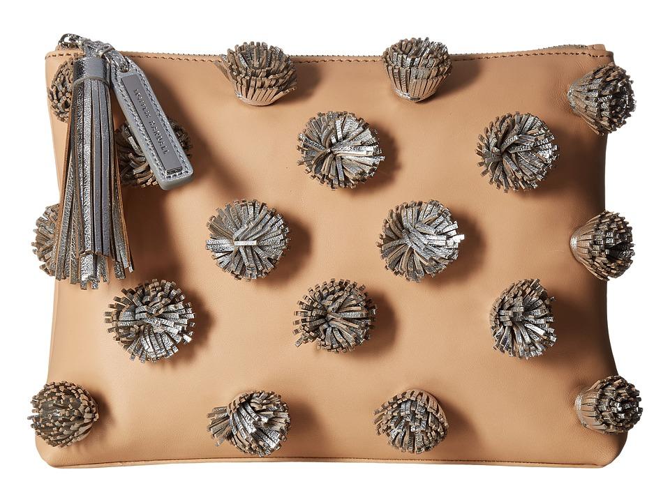 Loeffler Randall - Tassel Pouch (Natural/Silver) Clutch Handbags