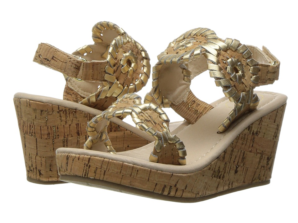 Jack Rogers - Little Miss Luccia (Toddler/Little Kid) (Cork/Gold) Women's Sandals