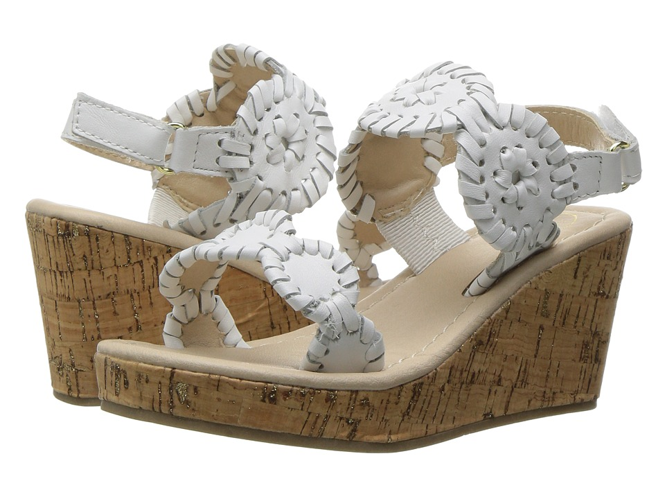 Jack Rogers - Little Miss Luccia (Toddler/Little Kid) (White) Women's Sandals