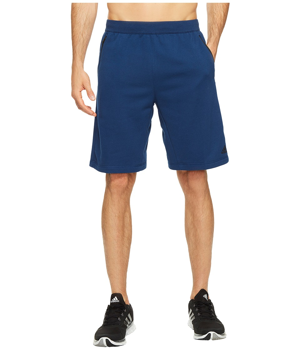 adidas - Sport ID French Terry Shorts (Mystery Blue) Men's Shorts