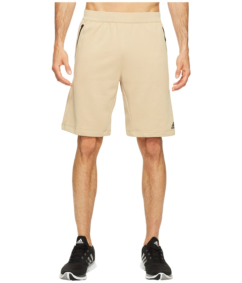 adidas - Sport ID French Terry Shorts (Linen Khaki) Men's Shorts