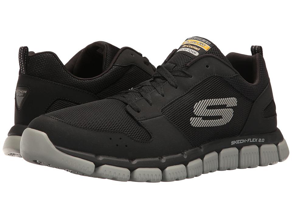 SKECHERS - Flex 2.0 (Black/Gray) Men's Shoes