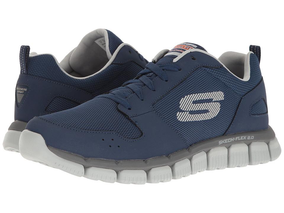 SKECHERS - Flex 2.0 (Navy/Gray) Men's Shoes