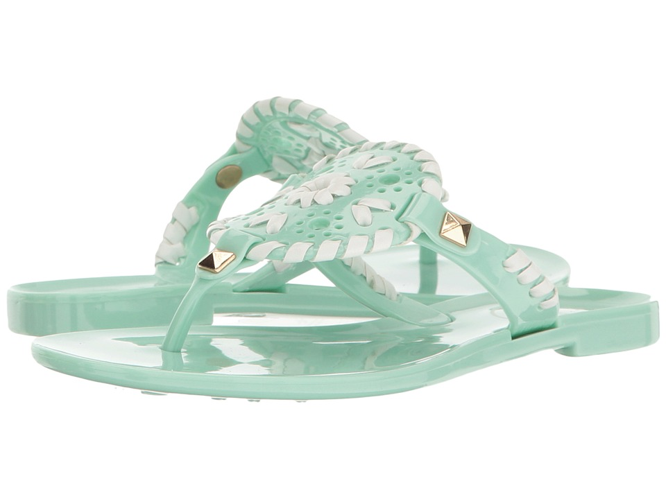 Jack Rogers - Little Miss Georgica Jelly (Toddler/Little Kid) (Mint/White) Women's Sandals