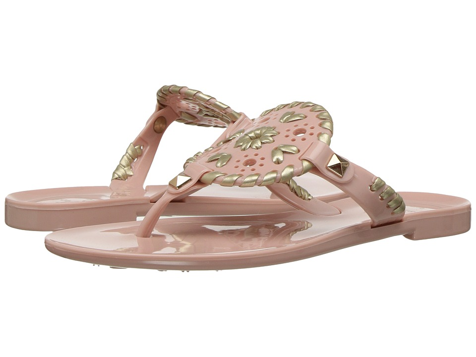 Jack Rogers - Little Miss Georgica Jelly (Toddler/Little Kid) (Blush/Gold) Women's Sandals