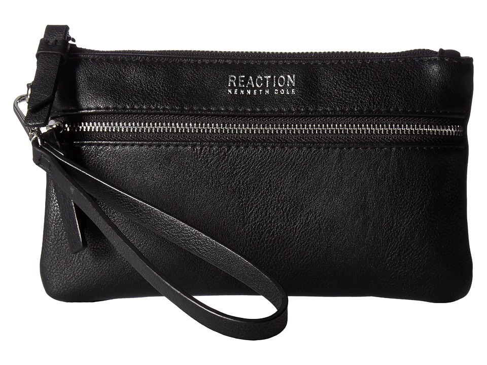 Kenneth Cole Reaction - Core Tech Phone Wristlet w/ RFID Bluetooth Speaker (Black) Wristlet Handbags