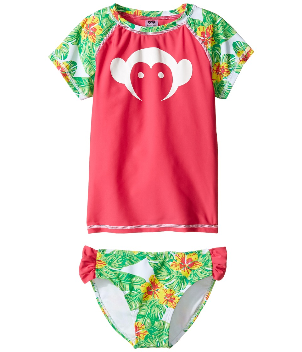 Appaman Kids Maui Rashguard Set w/ SPF 50 Cover-Up (Toddler/Little Kids/Big Kids) (Tropical) Girl