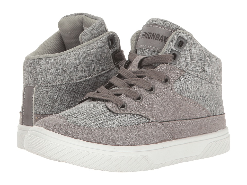 UNIONBAY Kids Erma High Top Sneaker (Toddler/Little Kid/Big Kid) (Gray) Boy