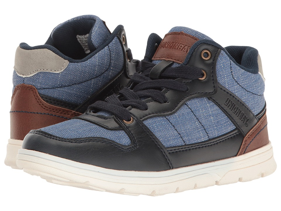 UNIONBAY Kids Gladin High Top Sneaker (Toddler/Little Kid/Big Kid) (Blue/Multi) Boy