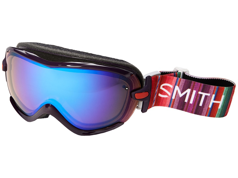 Smith Optics - Virtue Goggle (Black Cherry Cuzco Frame/Blue Sensor Mirror Lens) Goggles