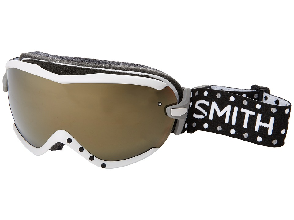 Smith Optics - Virtue Goggle (White Dots Frame/Gold Sol-X Mirror Lens) Goggles