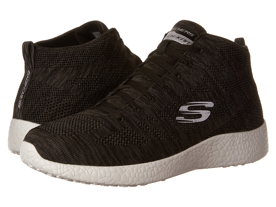 SKECHERS - Burst Up and Under (Black/White) Men's Lace up casual Shoes