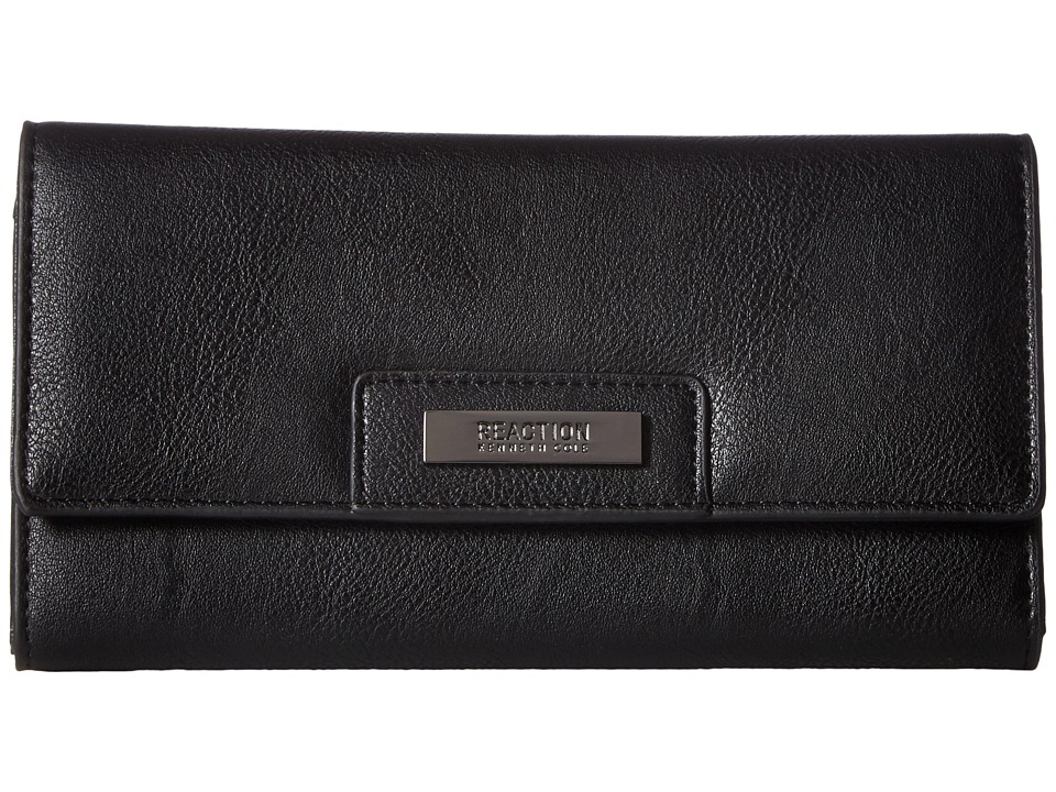 Kenneth Cole Reaction - Never Let Go Trifold Flap Clutch (Blackberry) Clutch Handbags