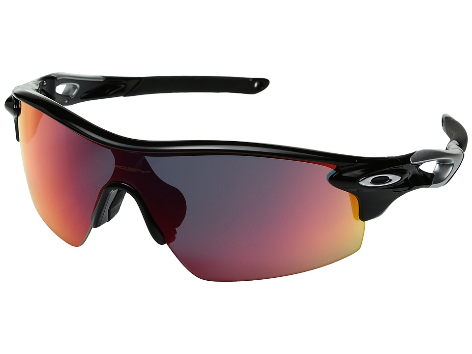 Oakley - Radarlock Pitch (Polished Black/+Red) Sport Sunglasses