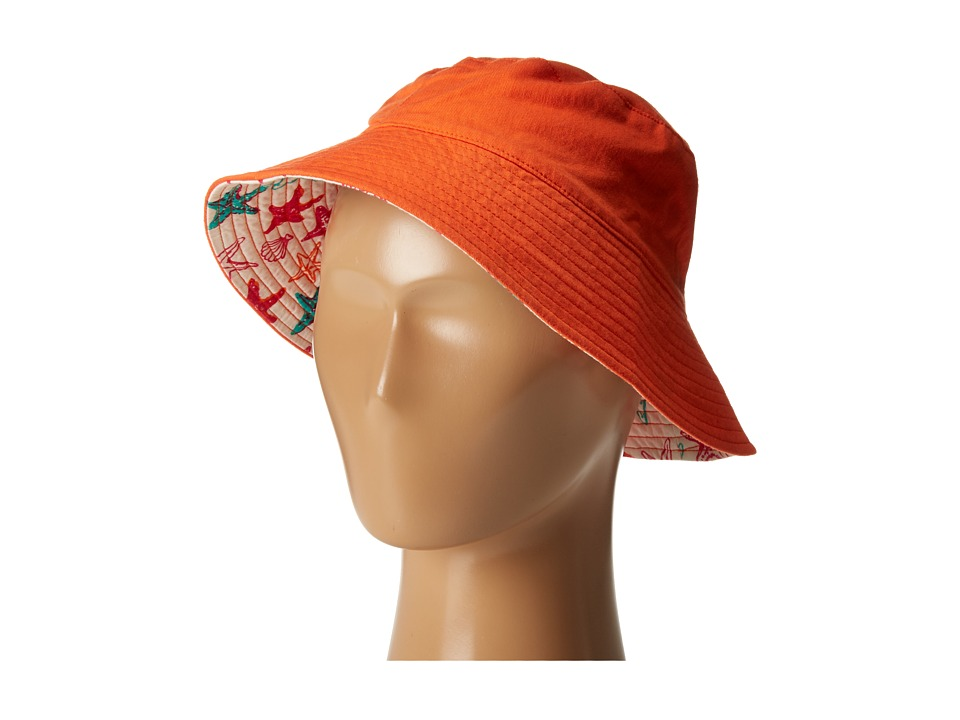 Hatley Kids - Starfish Sun Hat (Toddler/Little Kids) (Orange) Caps