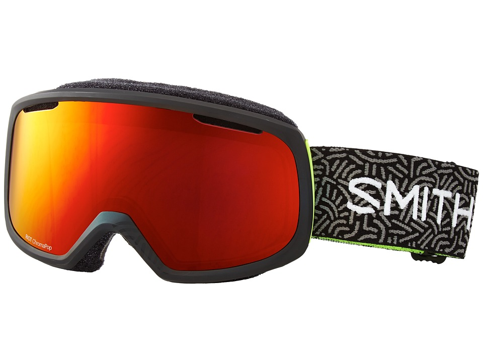 Smith Optics - Riot Goggle (Black New Wave Frame/Chromapop Everyday/Yellow Lens) Goggles