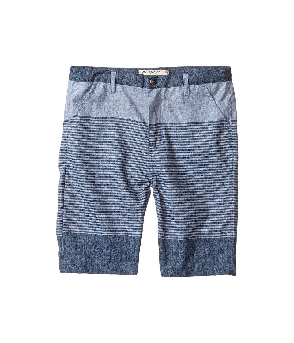 Appaman Kids - Hybrid Shorts for Swim or Everyday (Toddler/Little Kids/Big Kids) (Slate Stripe) Boy's Shorts