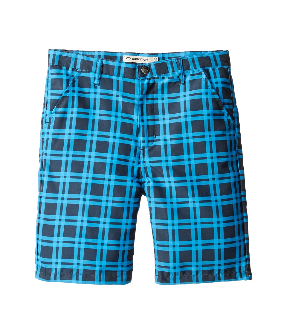 Appaman Kids - Hybrid Shorts for Swim or Everyday (Toddler/Little Kids/Big Kids) (French Blue Check) Boy's Shorts
