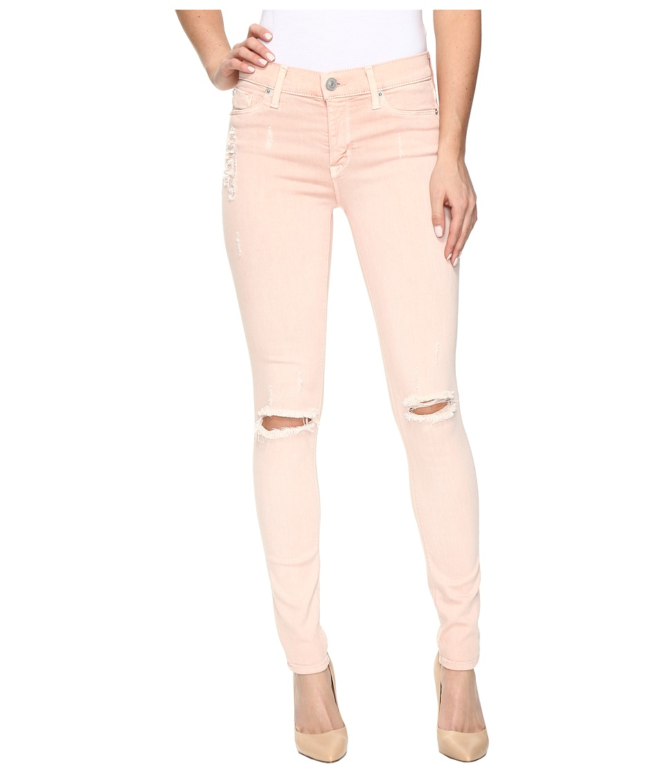 Hudson - Nico Mid-Rise Super Skinny in Sunkissed Pink Destructed (Sunkissed Pink Destructed) Women's Jeans