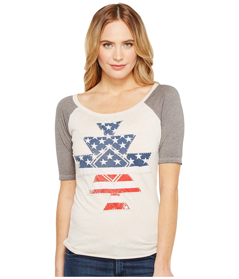 Rock and Roll Cowgirl - 1/2 Sleeve Knit 48T1189 (White) Women's Clothing