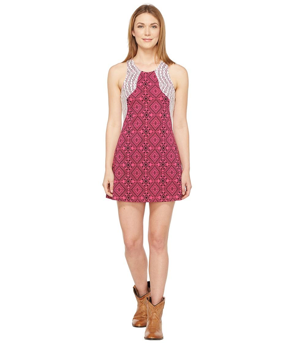 Rock and Roll Cowgirl - Sleeveless Dress 19-8234 (Hot Pink) Women's Dress