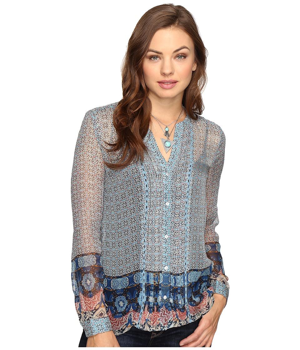 Lucky Brand - Bracelet Blouse (Blue Multi) Women's Blouse