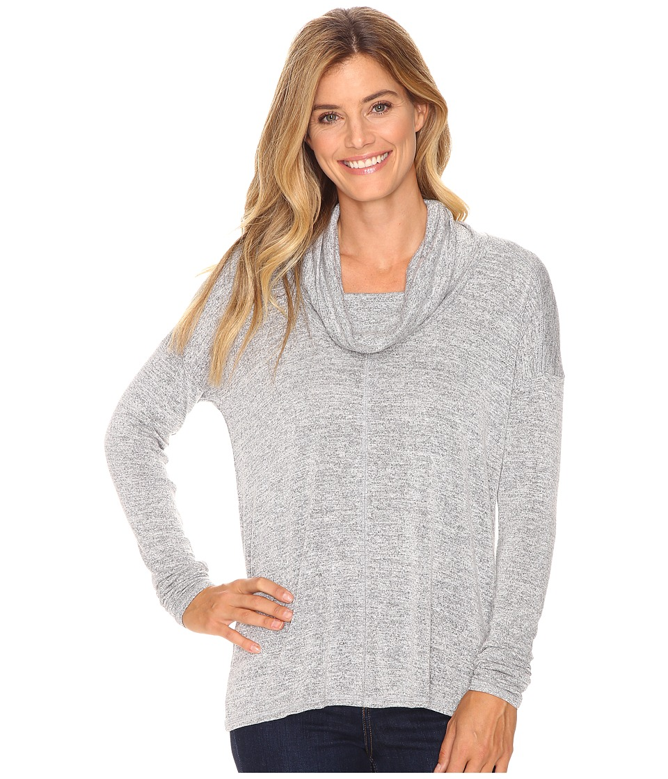 Lucky Brand - Cowl Neck Tunic (Heather Grey) Women's Blouse