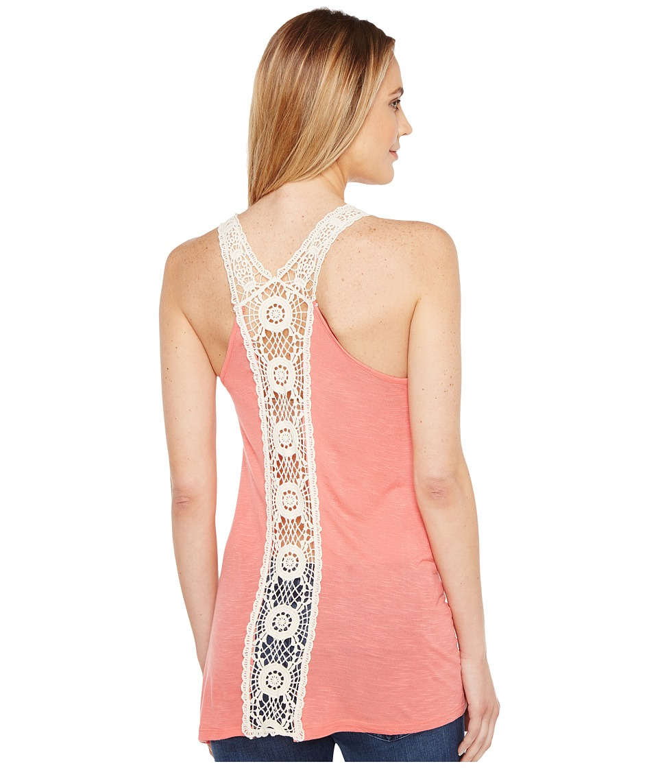 Rock and Roll Cowgirl - Tank Top 49-1211 (Coral) Women's Sleeveless