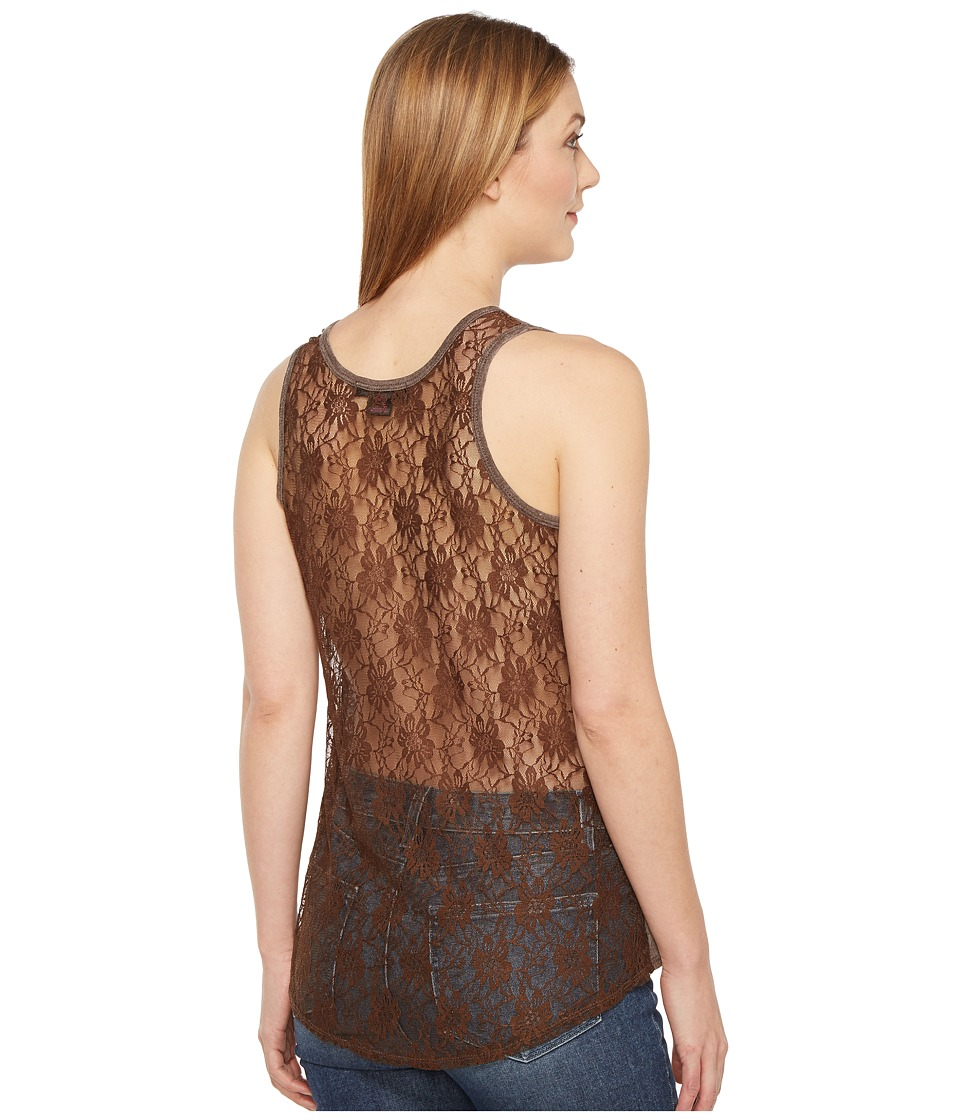 Rock and Roll Cowgirl - Knit Tank Top 49-1143 (Chocolate) Women's Sleeveless
