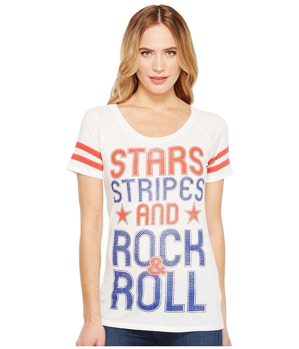 Rock and Roll Cowgirl - Short Sleeve Tee 49T1190 (White) Women's T Shirt