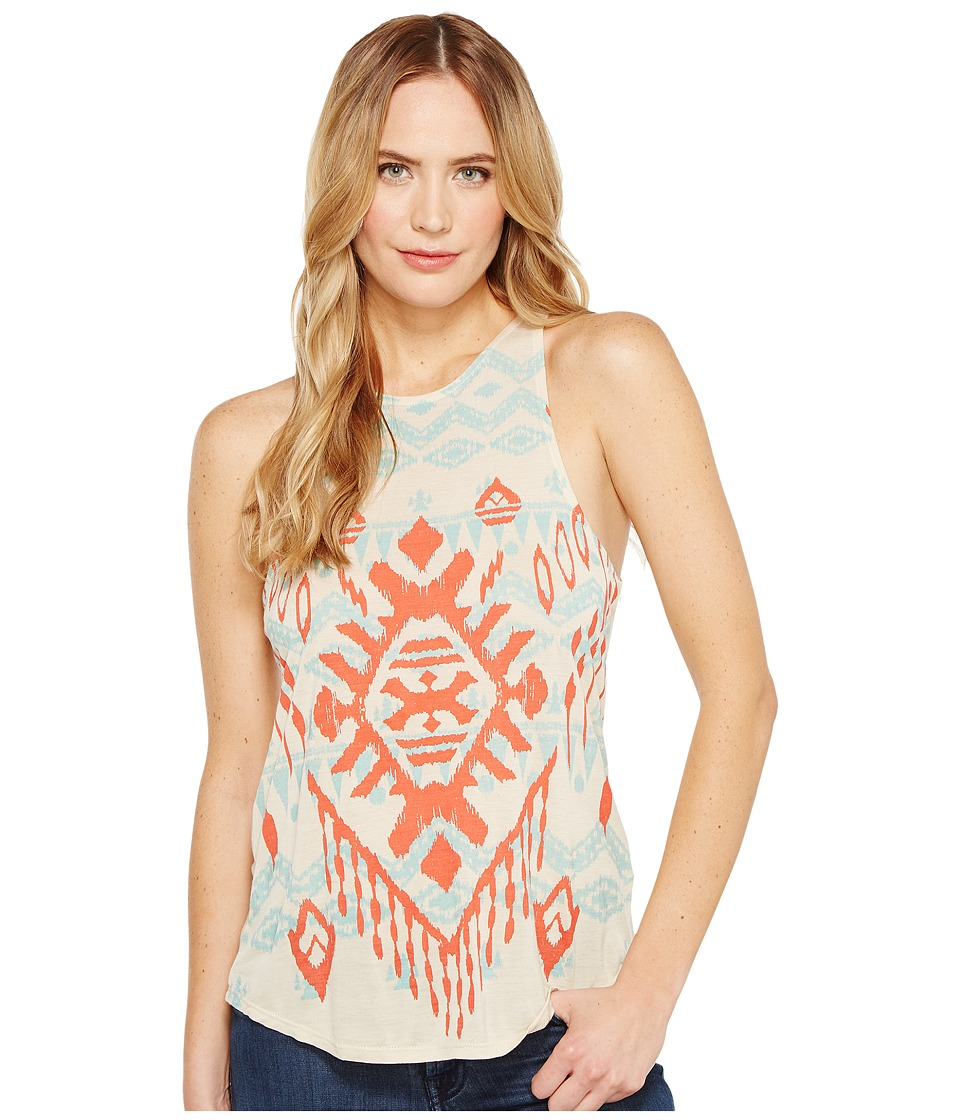 Rock and Roll Cowgirl - A-Line Loose Tank Top 49-1155 (Tan) Women's Sleeveless