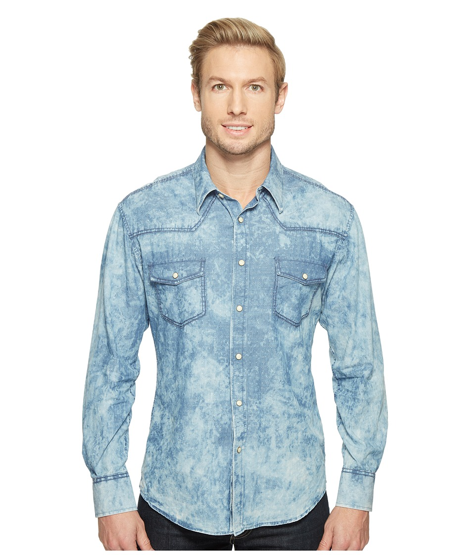 Rock and Roll Cowboy - Long Sleeve Snap B2S1268 (Blue) Men's Clothing