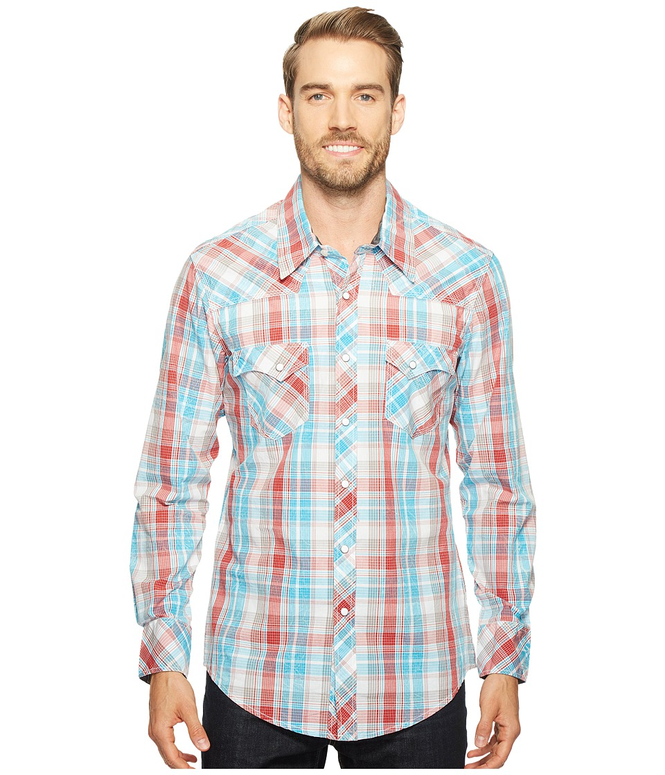 Rock and Roll Cowboy - Long Sleeve Snap B2S1247 (Red) Men's Clothing