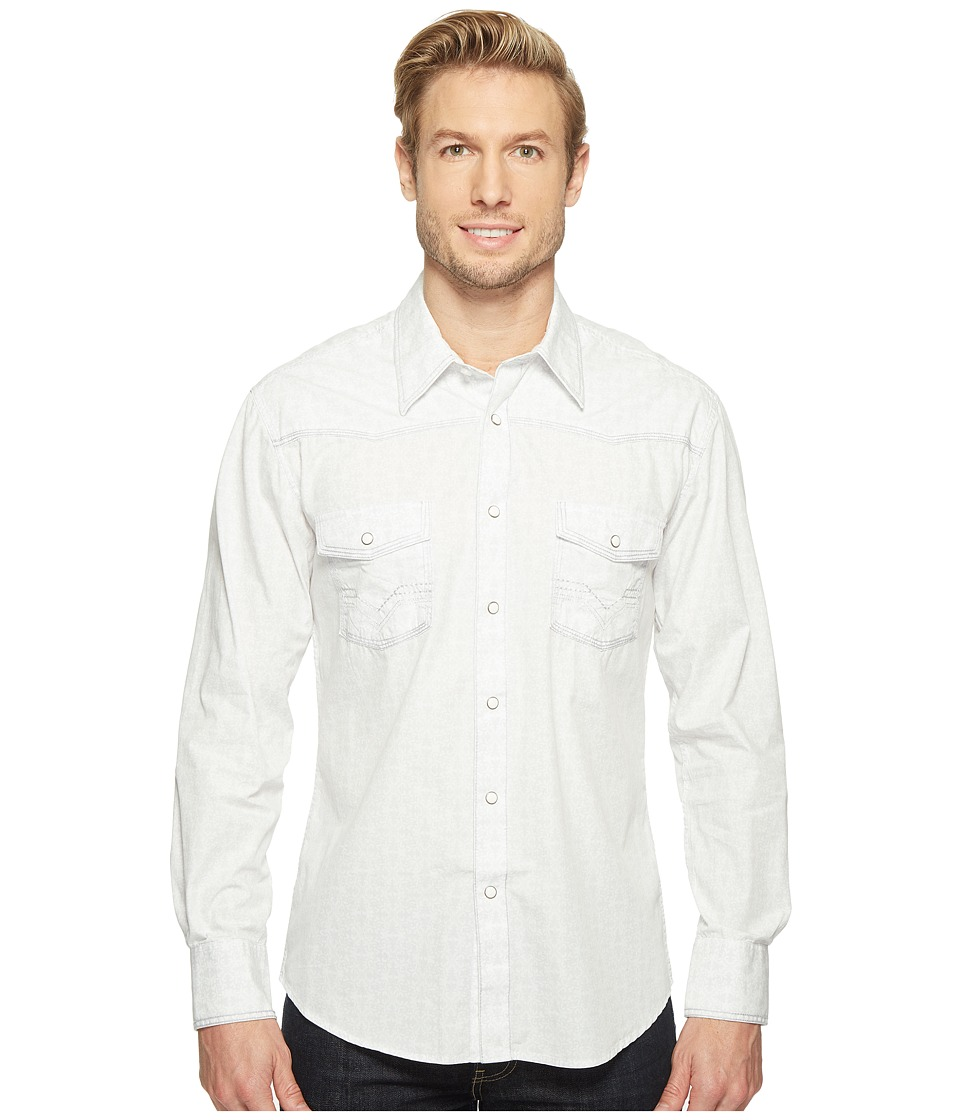 Rock and Roll Cowboy - Long Sleeve Snap B2S1258 (White/Grey) Men's Clothing