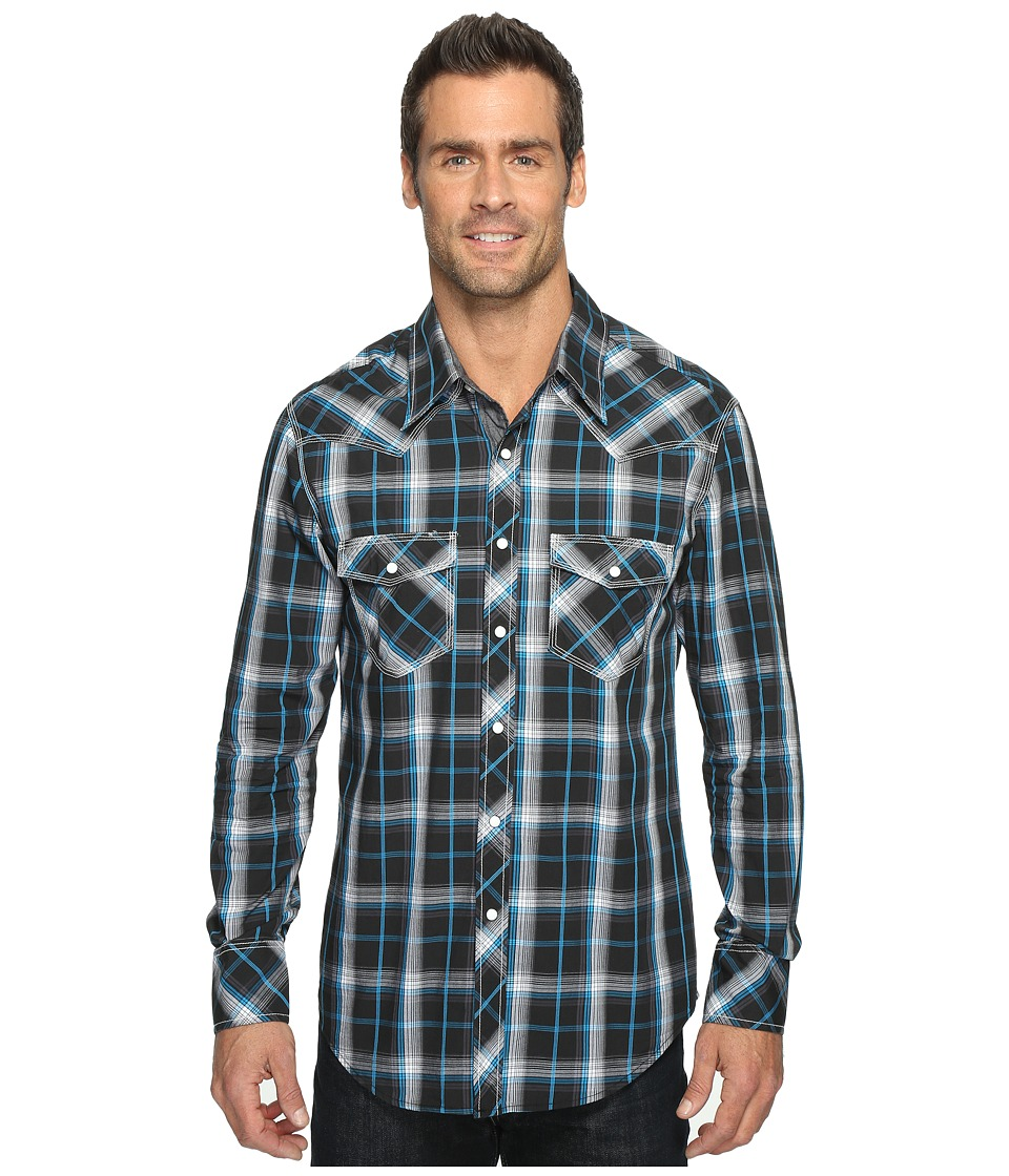 Rock and Roll Cowboy - Long Sleeve Snap B2S1245 (Black) Men's Clothing