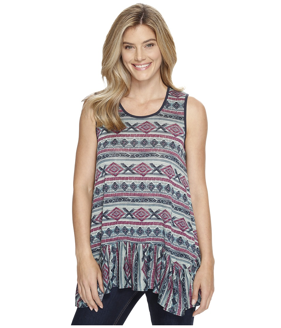Double D Ranchwear - Butterfly Bleu Tank Top (Multi) Women's Sleeveless