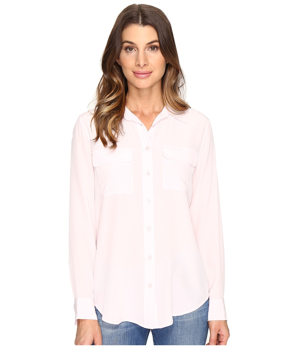 EQUIPMENT - Slim Signature Blouse (Petal Pink) Women's Blouse