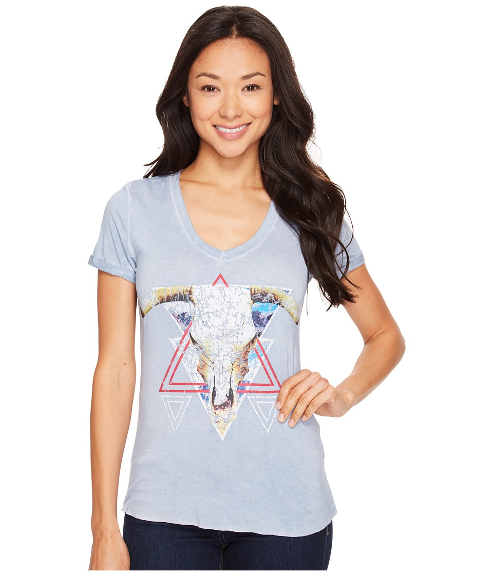 Rock and Roll Cowgirl - Short Sleeve Tee 49T1194 (Navy) Women's T Shirt