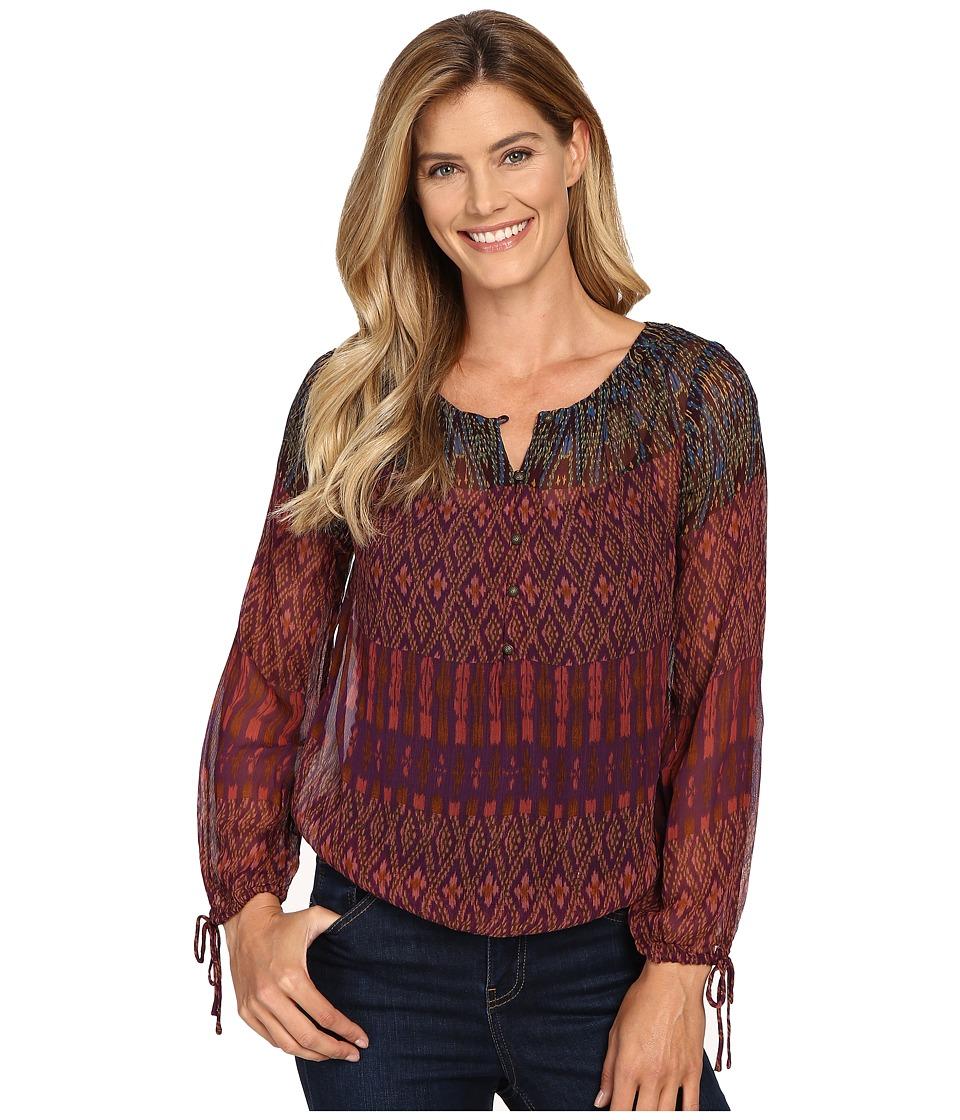 Lucky Brand - Long Sleeve Blouse (Multi) Women's Blouse