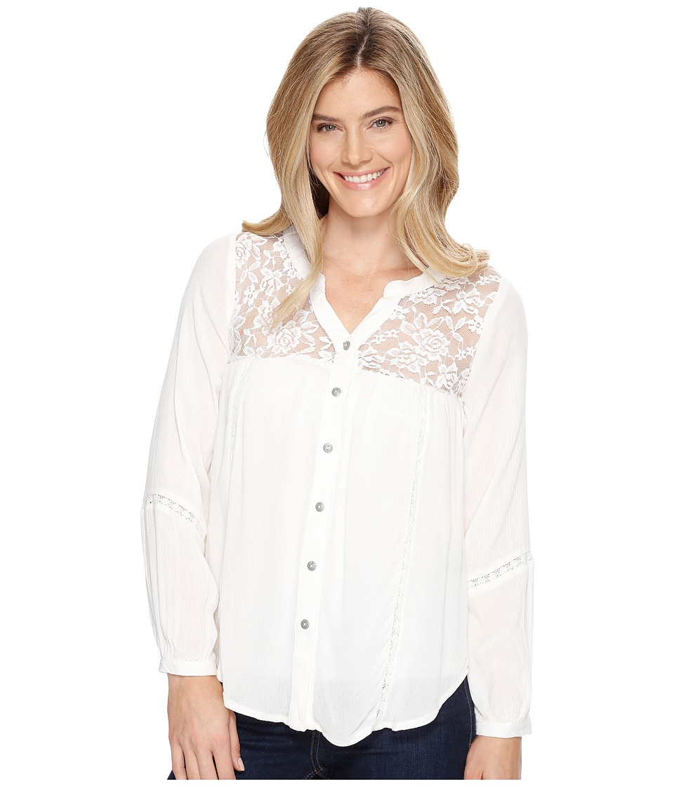Rock and Roll Cowgirl - 3/4 Sleeve Tunic B4-9100 (Natural) Women's Blouse