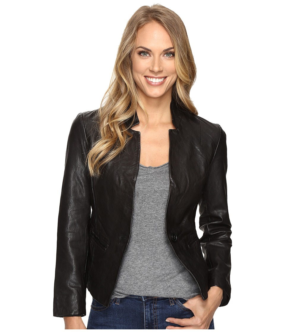 Lucky Brand - Leather Blazer (Lucky Black) Women's Jacket