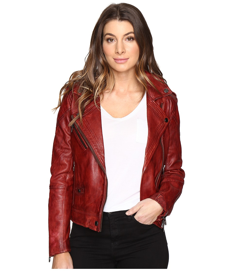 Blank NYC - Real Leather Moto Jacket (Burnt Out) Women's Coat