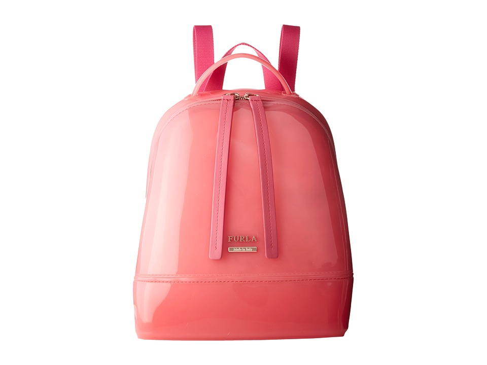 Furla - Candy Small Backpack (Rose) Backpack Bags