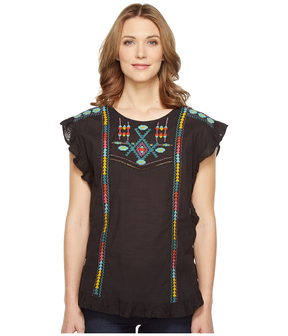 Double D Ranchwear - Bluff Creek Top (Black) Women's Clothing
